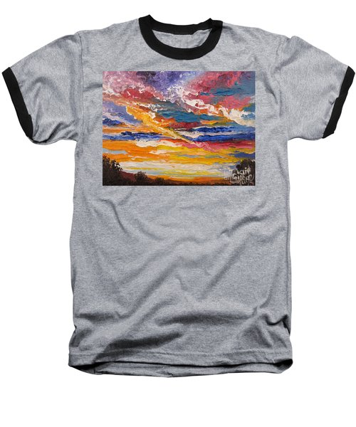 Sky In The Morning Baseball T-Shirt
