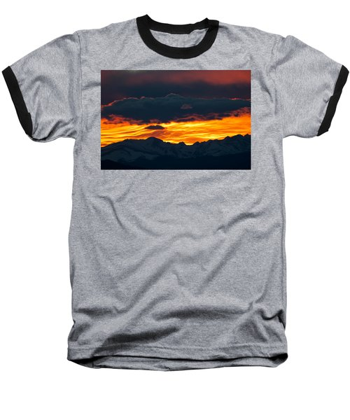 Sky Lava Baseball T-Shirt by Colleen Coccia