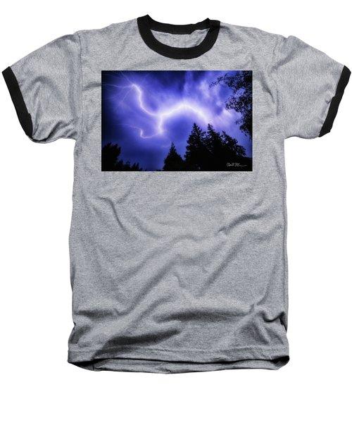 Sky Lightning Baseball T-Shirt