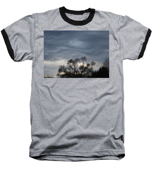 Baseball T-Shirt featuring the photograph Sky Of Ribbons by Ramona Whiteaker