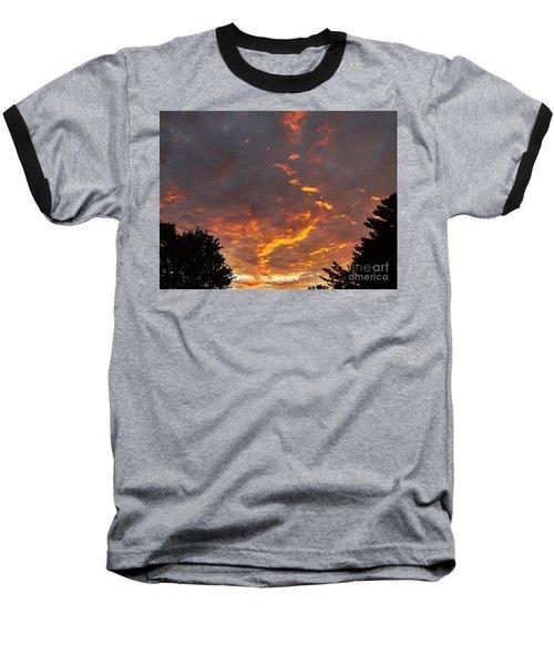 Sky On Fire Baseball T-Shirt by Christy Ricafrente