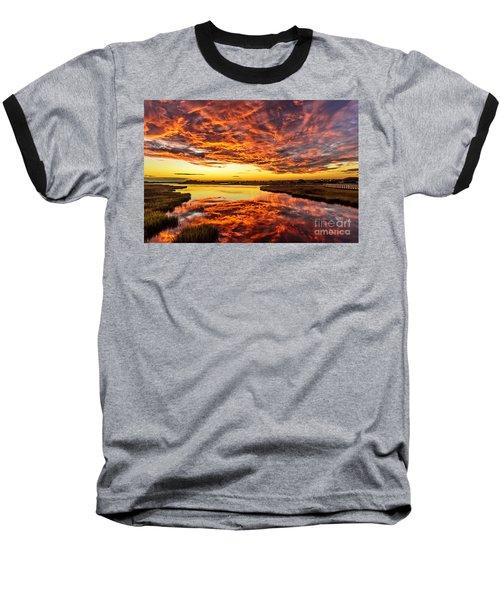Sky On Fire Baseball T-Shirt