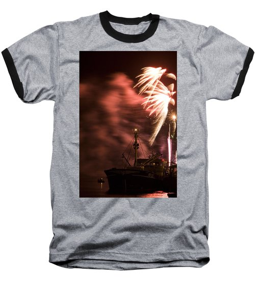 Baseball T-Shirt featuring the photograph Sky On Fire by Ian Middleton