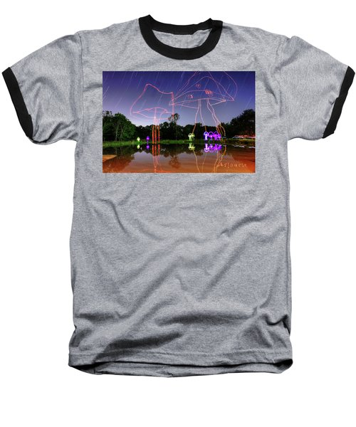Sky Shrooms Baseball T-Shirt by Andrew Nourse