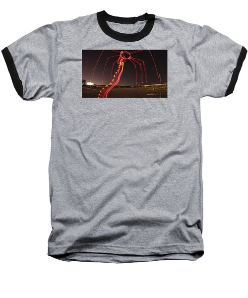 Sky Spider Baseball T-Shirt by Andrew Nourse