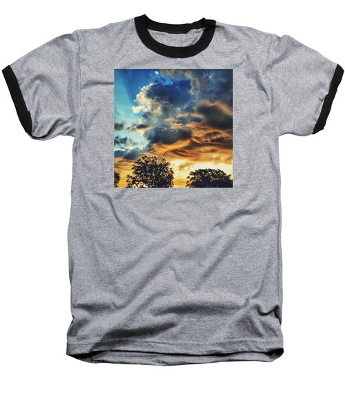 Baseball T-Shirt featuring the photograph Sky Surf by Nikki McInnes