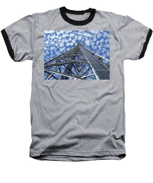 Sky Tower Baseball T-Shirt by Robert Geary