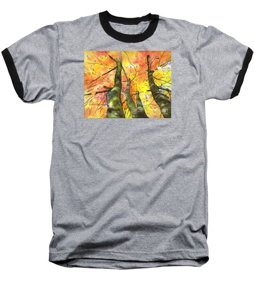 Baseball T-Shirt featuring the painting Sky View by Yolanda Koh