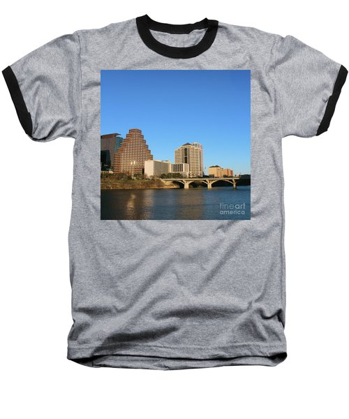 Baseball T-Shirt featuring the photograph Skyline Atx by Sebastian Mathews Szewczyk