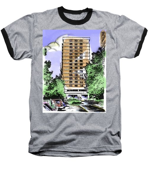 Skyline House Condo Baseball T-Shirt