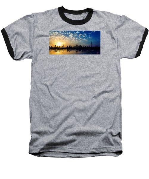 Skyline Baseball T-Shirt by James Shepherd