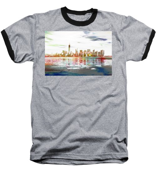 Skyline Of New York City, United States Baseball T-Shirt