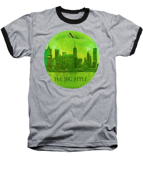 Skyline Of The Big Apple, New York City, United States Baseball T-Shirt