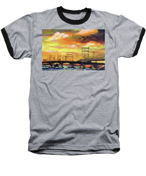 Skylines Baseball T-Shirt by Bonnie Lambert