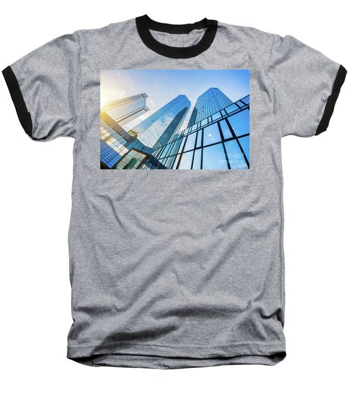 Skyscrapers Baseball T-Shirt by JR Photography