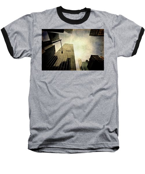 Skyscrapers Baseball T-Shirt