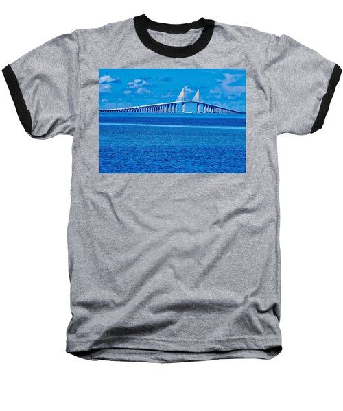 Skyway Bridge Baseball T-Shirt