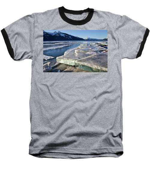 Slabs Of Ice Baseball T-Shirt by Michele Cornelius