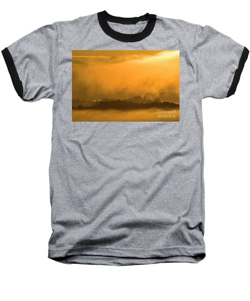 Baseball T-Shirt featuring the photograph sland in the Mist - D009994 by Daniel Dempster