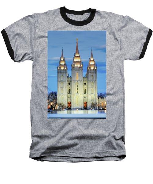 Slc Temple Blue Baseball T-Shirt
