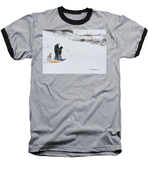 Sledding Baseball T-Shirt