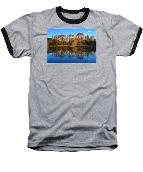 Fraser River Arm  Baseball T-Shirt by Heather Vopni