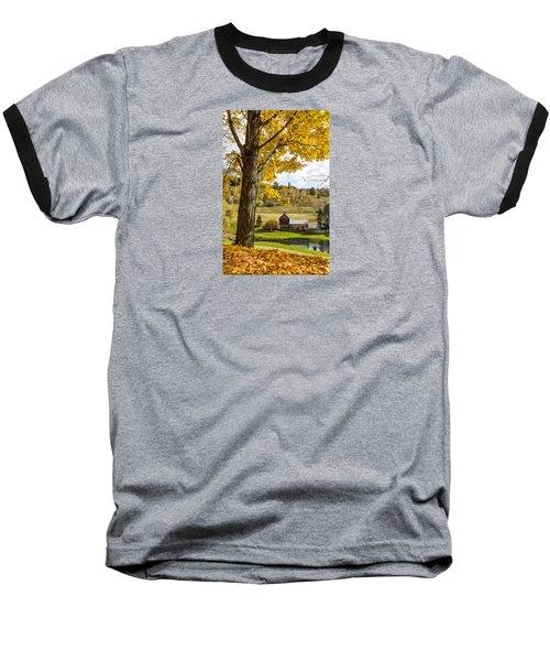 Baseball T-Shirt featuring the photograph Sleep Hollow Farm Woodstock Vt by Betty Denise