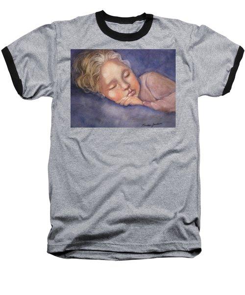 Sleeping Beauty Baseball T-Shirt by Marilyn Jacobson