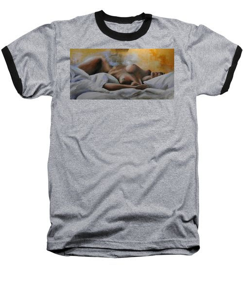 Sleeping Nude Baseball T-Shirt