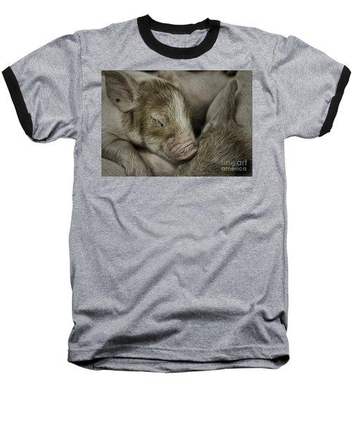 Sleeping Piglet Baseball T-Shirt
