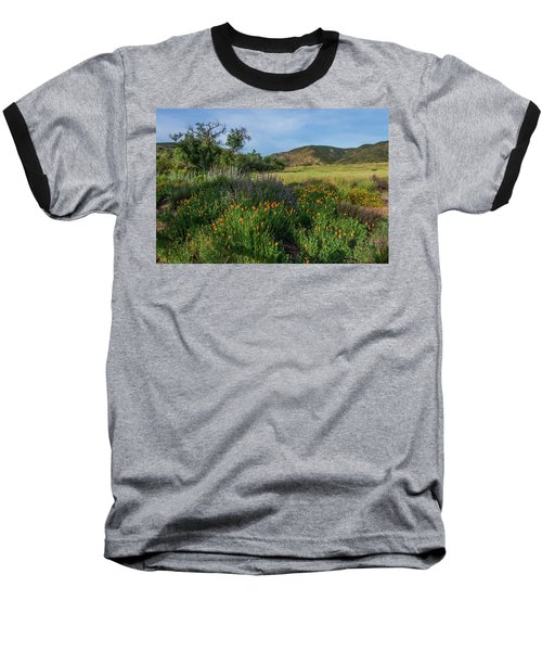 Sleeping Poppies, Mission Trails Baseball T-Shirt