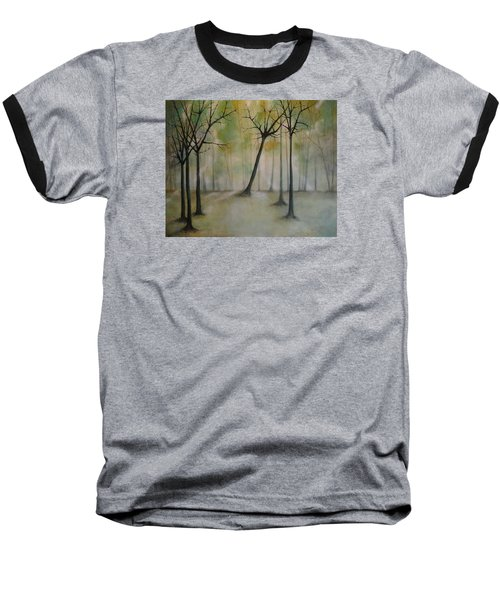 Sleeping Trees Baseball T-Shirt by Tamara Bettencourt