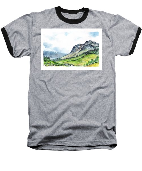 Baseball T-Shirt featuring the painting Sleeping Valley by Heidi Kriel