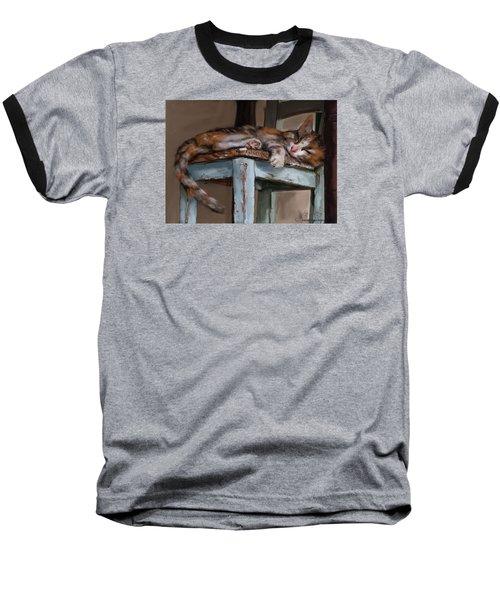 Sleepting Cat Baseball T-Shirt