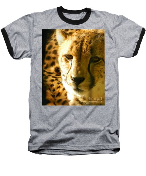 Sleepy Cheetah Cub Baseball T-Shirt