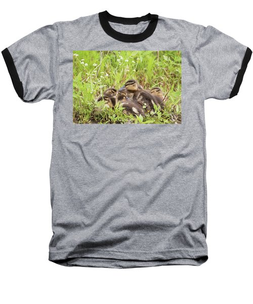 Sleepy Ducklings Baseball T-Shirt