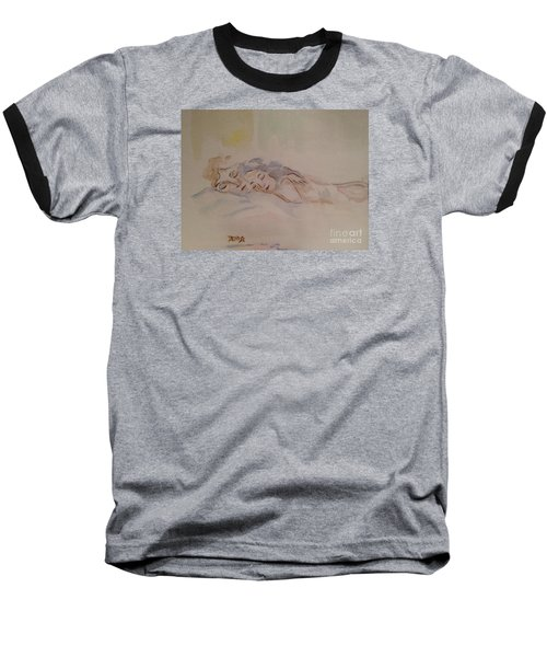 Baseball T-Shirt featuring the painting Sleepy Heads by Denise Tomasura