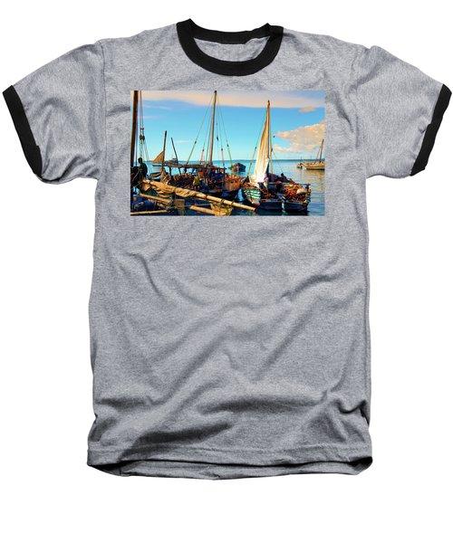 Sleepy Sail Boats Zanzibar Baseball T-Shirt