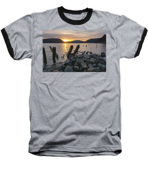 Sleepy Waterfront Dream Baseball T-Shirt by Angelo Marcialis