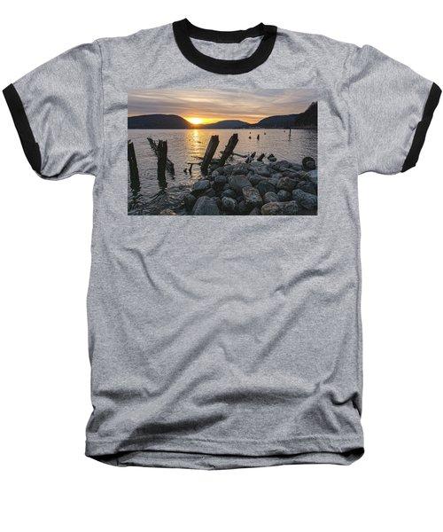 Sleepy Waterfront Dream Baseball T-Shirt