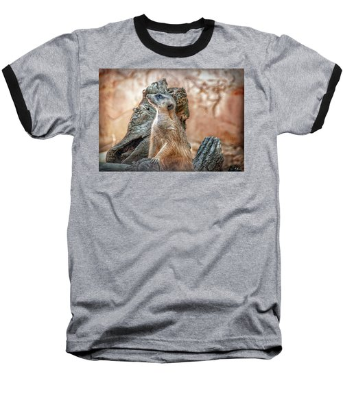 Baseball T-Shirt featuring the photograph Slender-tailed Meerkat by Hanny Heim