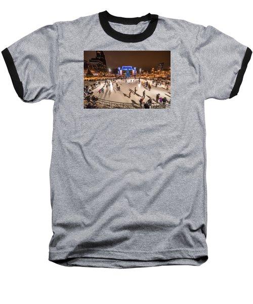 Slice Of Ice Baseball T-Shirt by Randy Scherkenbach