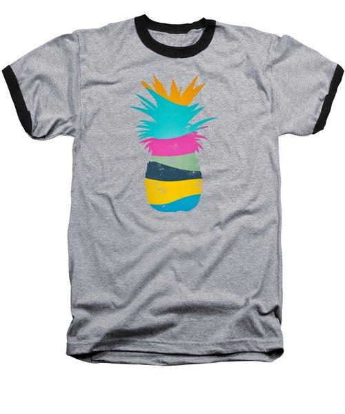 Sliced Ananas, Pineapple Baseball T-Shirt by Jirka Svetlik