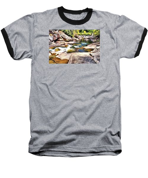 Sliding Rock Falls Baseball T-Shirt