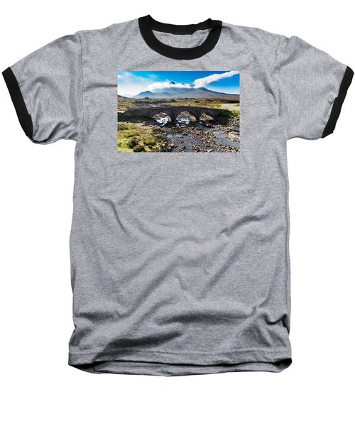 Baseball T-Shirt featuring the photograph Skye Cuillin From Sligachan by Gary Eason