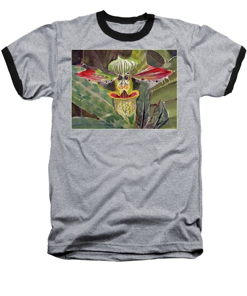 Baseball T-Shirt featuring the painting Slipper Foot Aladdin by Mindy Newman