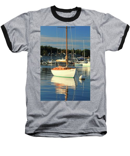 Baseball T-Shirt featuring the photograph Sloop Reflections by Roupen  Baker