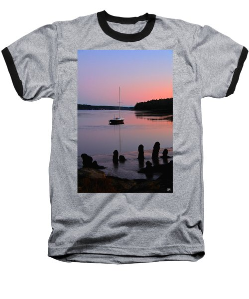 Sloop Sunset Baseball T-Shirt