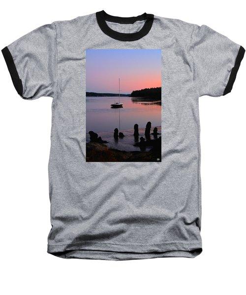 Sloop Sunset Baseball T-Shirt