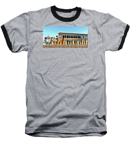 Sloppy Tuna Restaurant, Montauk Long Island Baseball T-Shirt by Joan  Minchak